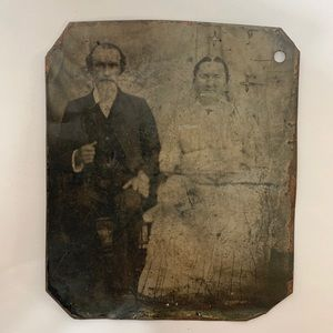 Other - Antique Victorian Tintype Couple Love Photograph
